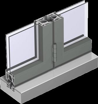 RAUM Aluminium bifold door profile