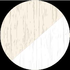 Cream & White Grain